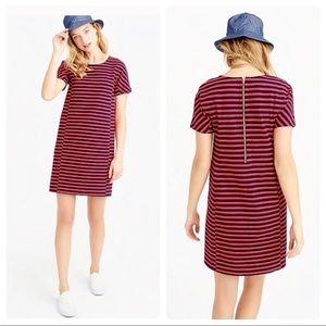 BNWT J.Crew Strip Knit Zip Back Dress Sz Medium
